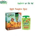 GoGo squeeZ Apple Pumpkin Spice Applesauce Arrives for Fall #GoGoWeen