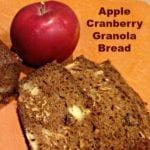 Apple Cranberry Granola Bread Recipe #JuicyJuiceCrew #FamilyTime