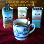 Thanksgiving Owl Craft and Apple Cider Recipe #FamilyTime #JuicyJuiceCrew
