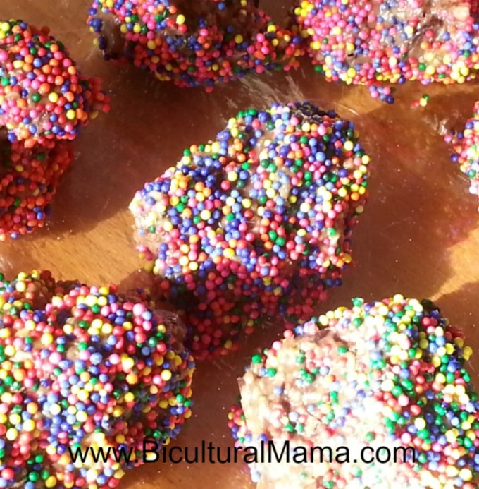 No Bake Chocolate Sprinkle Balls Recipe