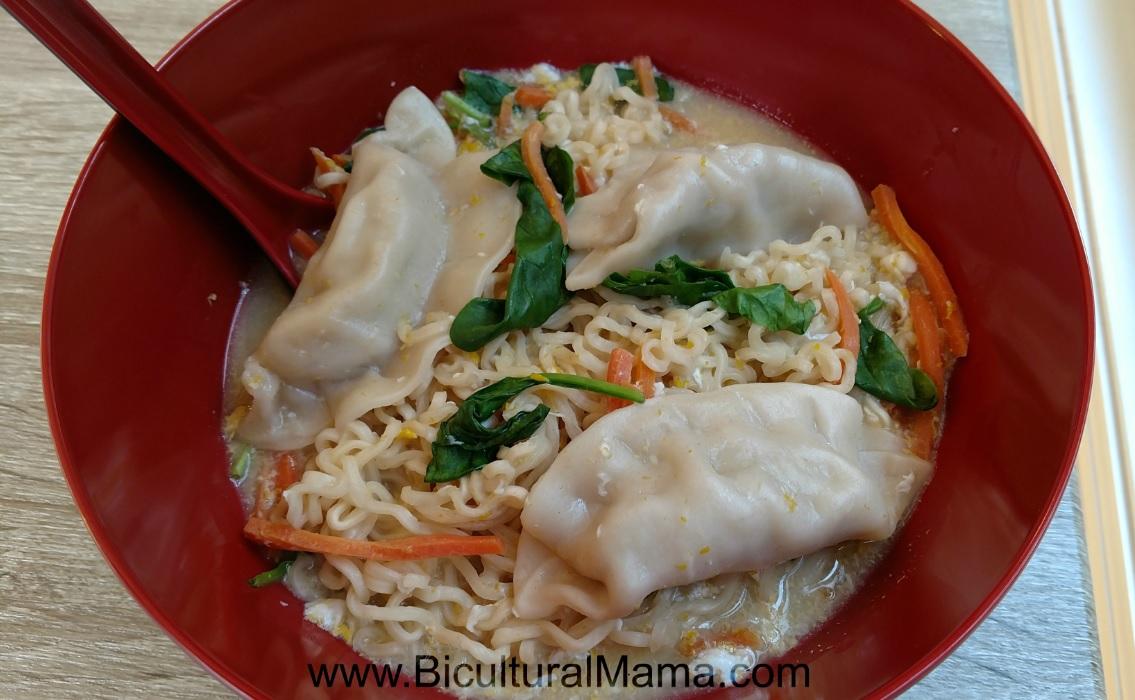 Potsticker Ramen Noodle Soup