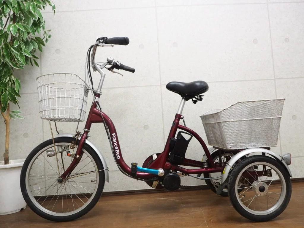 フランスベッド 三輪電動アシスト自転車 リハテック ASU-3W01