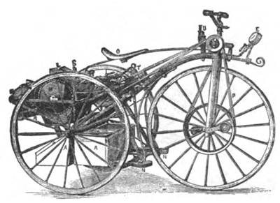 Picture Of Steam Velocipde Tricycle 1884