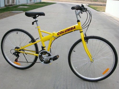 Columba 26″ Folding Bike w. Shimano 18 Speed Yellow (SP26S_YLW)