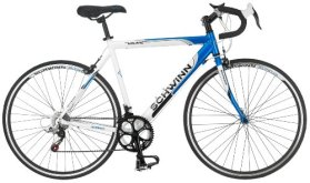 Schwinn Men's Volare 1300 700C Drop Bar Road Bicycle, Blue/White, 18-Inch