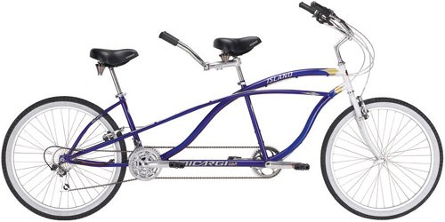 J Bikes by Micargi Island 26″ 18-Speed 2-Seater Tandem Bicycle Beach Cruiser Bike – Blue