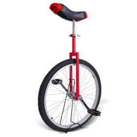 Unicycle 24″ Wheel with Eye Catching Colors with Large Saddle in Unique Design For Comfort and Safety