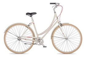 PUBLIC Bikes Women's C1 Dutch Style Step-Thru City Bike, Single Speed, Cream, 20-Inch/Large (2014 Model)