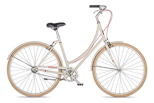 PUBLIC Bikes Women's C1 Dutch Style Step-Thru City Bike, Single Speed, Cream, 20-Inch/Large (2014 Model)