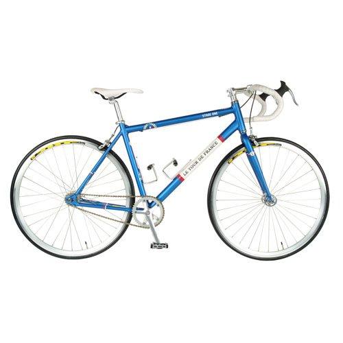 Tour de France  Stage One Vintage Fixie Bike, 700c Wheels, Men's Bike, Blue, 45 cm Frame, 51 cm Frame, 56 cm Frame