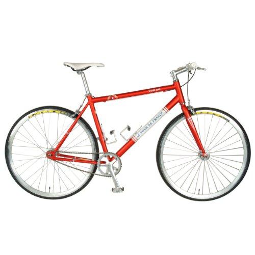 Tour de France  Stage One Vintage Fixie Bike, 700c Wheels,  Men's Bike, Red, 45 cm Frame, 51 cm Frame, 56 cm Frame