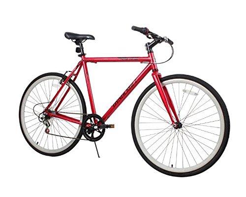 Dynacraft Men's 28″ 700C 3 Speed Metreon Bike, 22″/One Size, Red/Black