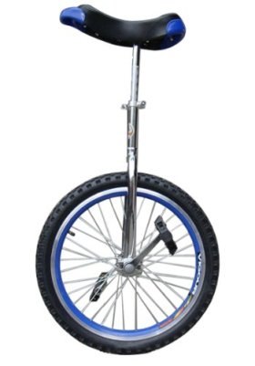 Fantasycart Unicycle 16″ in & Out Door Chrome Colored, Brand New!