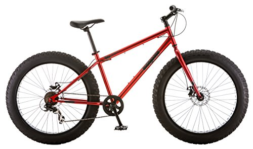 Mongoose Hitch Men's Fat Tire Bicycle, Red, 26″