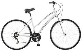 Schwinn Network 1.0 700c Women's 16 Hybrid Bike, 16-Inch/Small, White