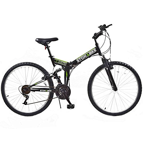 Stowabike 26″ MTB V2 Folding Dual Suspension 18 Speed Gears Mountain Bike