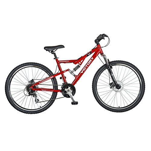 Victory Jackpot 2.0 Full Suspension Mountain Bike,  27.5 inch Wheels, 18 inch Frame, Mens' Bike, Red