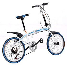 Hotouch New Portable Folding Foldable Bike 6-Speed Bicycle Ladies Bicycles