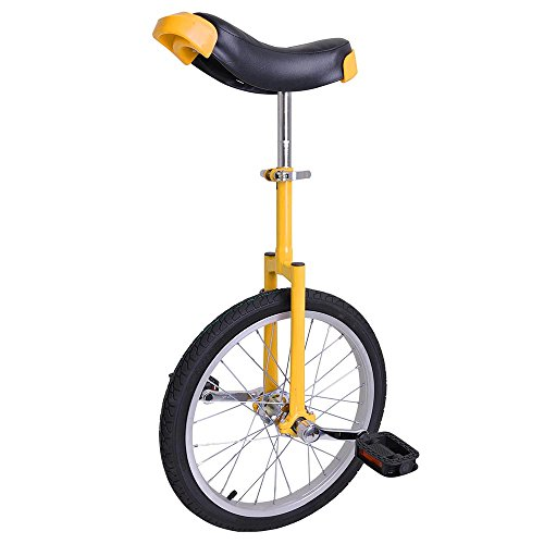 AW Yellow 18″ Inch Wheel Unicycle Leakproof Butyl Tire Wheel Cycling Outdoor Sports Fitness Exercise Health