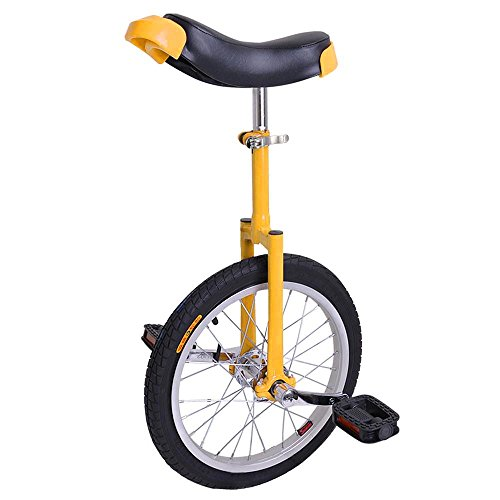 AW 16″ Inch Wheel Unicycle Leakproof Butyl Tire Wheel Cycling Outdoor Sports Fitness Exercise Health Yellow
