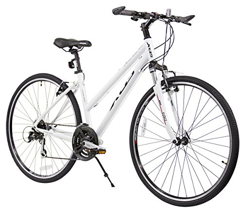 XDS Women's Cross 300 24-Speed Step-Through Hybrid Bicycle, 44cm, White