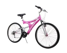 Dynacraft Women's 26″ 21 Speed Air Blast Bike, 17.5″/One Size, Pink/White