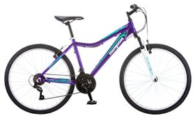 Mongoose Women's Silva Bicycle with 26″ Wheels, Purple, 16″/Small