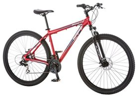 Mongoose Men's Impasse HD Bicycle with 29″ Wheels, Red, 18″/Medium