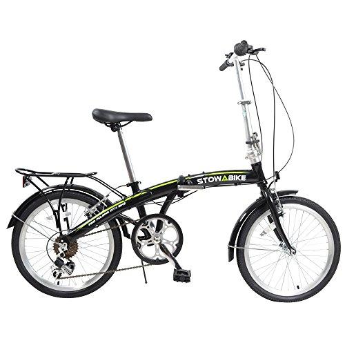 Stowabike 20″ Pro Alloy Folding Compact City Road Bike 6 Speed Shimano Bicycle