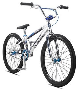 SE Bicycles Floval Flyer BMX Bicycle, 24″, High Polished Silver