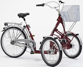 PFIFF Adult Primo Front Tricycle (20″ & 26″ wheels), Maroon