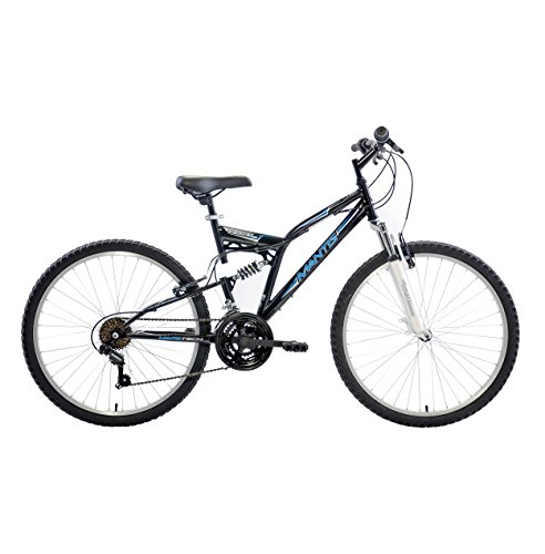 Mantis Ghost Full Suspension Mountain Bike, 26 inch wheels, 18 inch frame, Men's Bike, Black