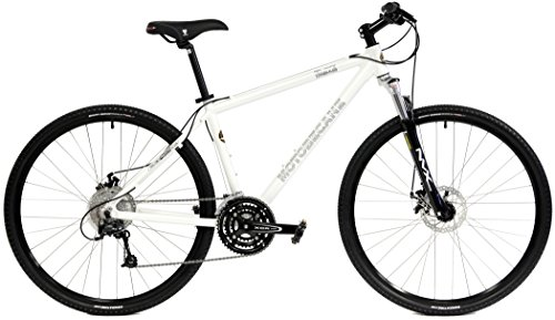 Motobecane Front Suspension Hybrid Adventure 29er mountain bike 27 speed disc Bike white 19″ frame