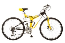 Titan #135 Glacier PRO Alloy Dual Suspension All Terrain 21-Speed 19-Inch Frame Mountain Bike, Yellow/Black, Large