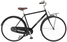 Schwinn Men's Scenic 700c Dutch Bicycle, Black, 18-Inch Frame