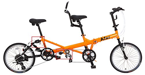 Afar 20″ 24 Speed Dual Derailleur System Drive Family Foldable Tandem Bicycle