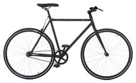 Vilano Fixed Gear Bike Urban Single Speed Deep V 54 cm Wheels, Matte Black