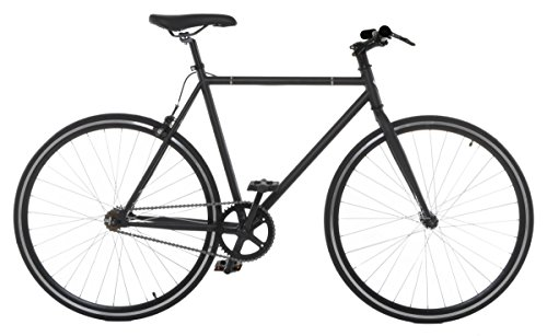 Vilano Fixed Gear Bike Urban Single Speed Deep V 54 cm Wheels, Matte Black