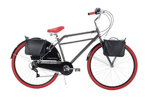 Huffy Bicycle Men's 700C Supreme Modern Cruiser Bike, 26″/Large
