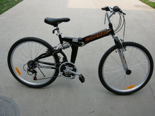 Columba 26″ Alloy Folding Bike w. Shimano Black (RJ26A_BLK)