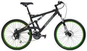 2016 Gravity FSX 2.0 Dual Full Suspension Mountain Bike Shimano Acera Suntour (Matt Black with Green Wheels, 19inch)