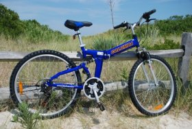 Columba 26″ Alloy Folding Bike w. Shimano Blue (RJ26A_BLU)