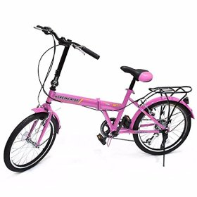 GHP Shimano High Quality 20″ Pink 6 Speed Folding Sports Bicycle