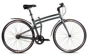 2015 Montague 19-Inch Boston 8 Folding Bike, Smoke Silver