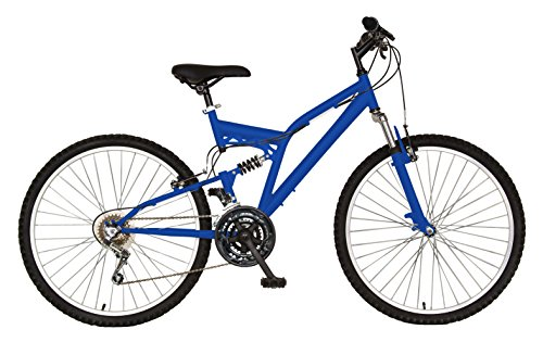 Cycle Force 26-Inch Dual Suspension 18-Speed Bicycle, Blue