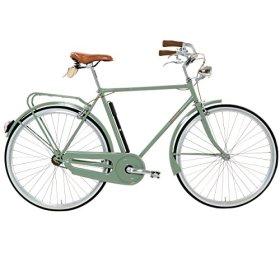 Lombardo Sanremo M City Bike, 700c Wheels, 22 inch Frame, Men's Bike, Green, 99% Assembled