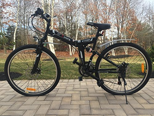 26″ Folding Bike with Shimano 21 speed and Disc Brakes