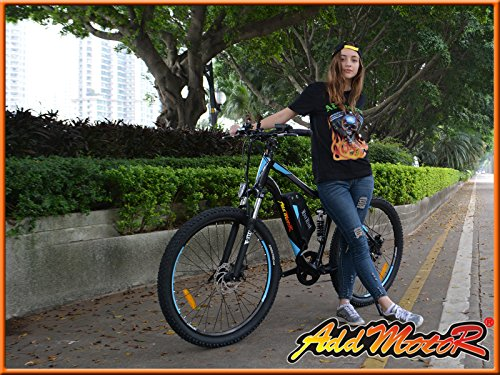 Addmotor® HITHOT Electric Bicycles For Sale H1 48V 500W Bafang Motor 8.8AH Samsung Lithium Battery Electric Bicycles For Adults With Fork Suspension/Spring Shock Absorber
