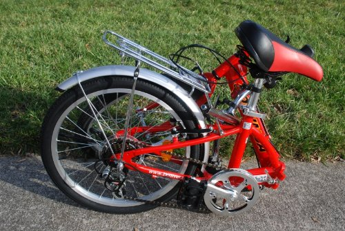 Columba 20″ Alloy Folding Bike w. Shimano 7 Speed Red (R20A_RED)