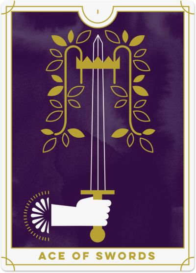 Ace Swords Tarot Card
